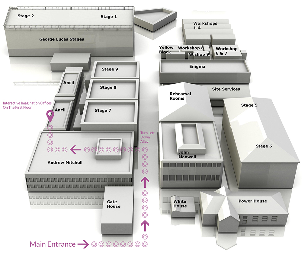Map showing how to get our offices